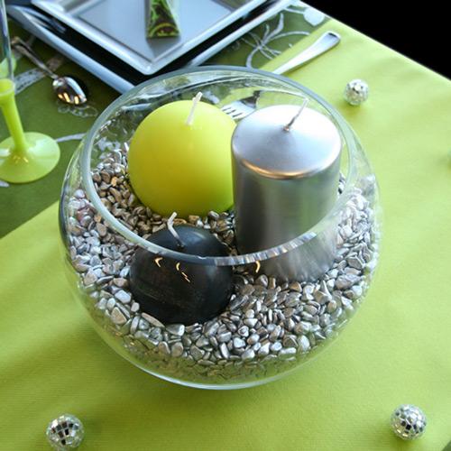 Cr ez un centre de table original pour votre mariage - Decoration de table avec bougies ...