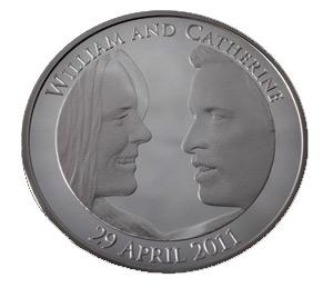 Pièce de monnaie à l'effigie du couple princier