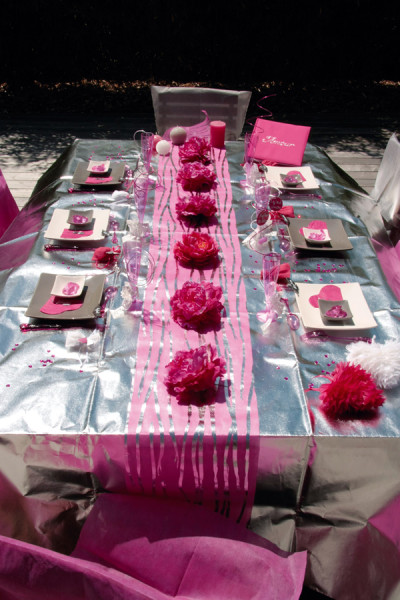 Chemin de table Zebre pour votre décoration de mariage