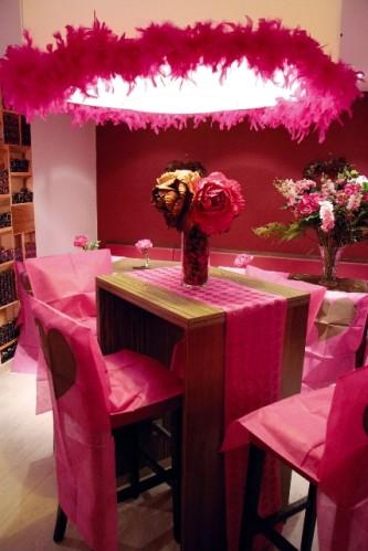 Boa en plumes pour décoration de salle ou de table