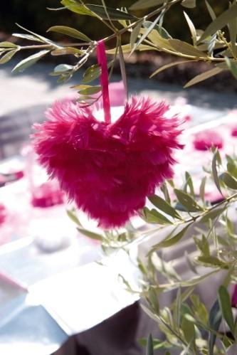 Coeurs en plumes petit modèle