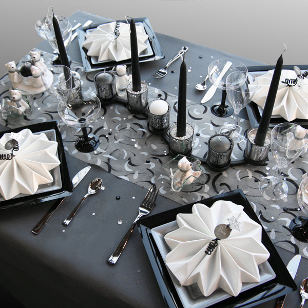 Decoration mariage gris blanc noir votre heureux blog photo de mariage - Deco noir blanc gris ...