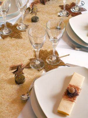 Chemin de table cristaux pour mariage
