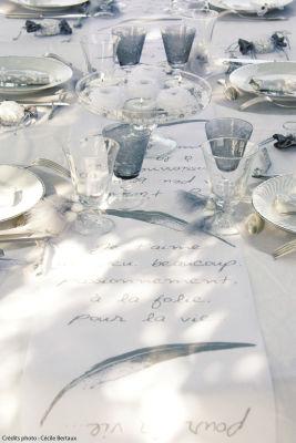 Chemin de table Je t'aime pour mariage