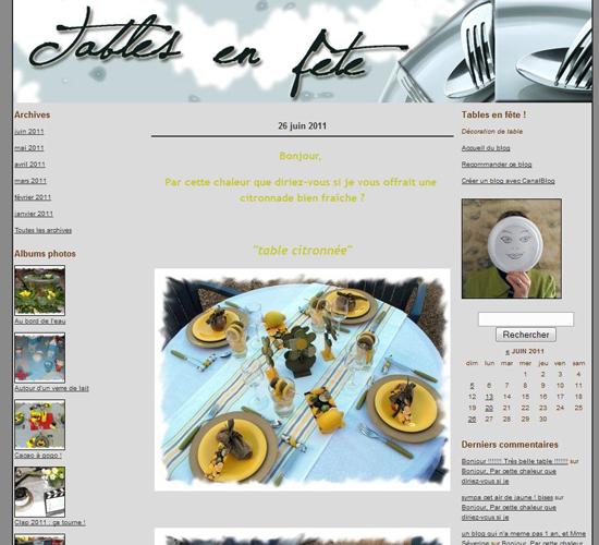 Blog table en fête