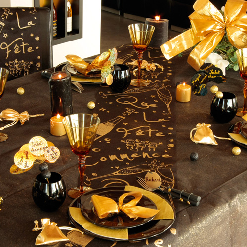 Chemin de table pour un mariage