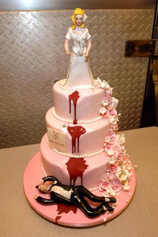 Gâteau de mariage insolite