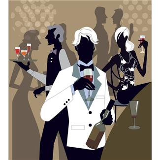 Vin servi lors d'un mariage