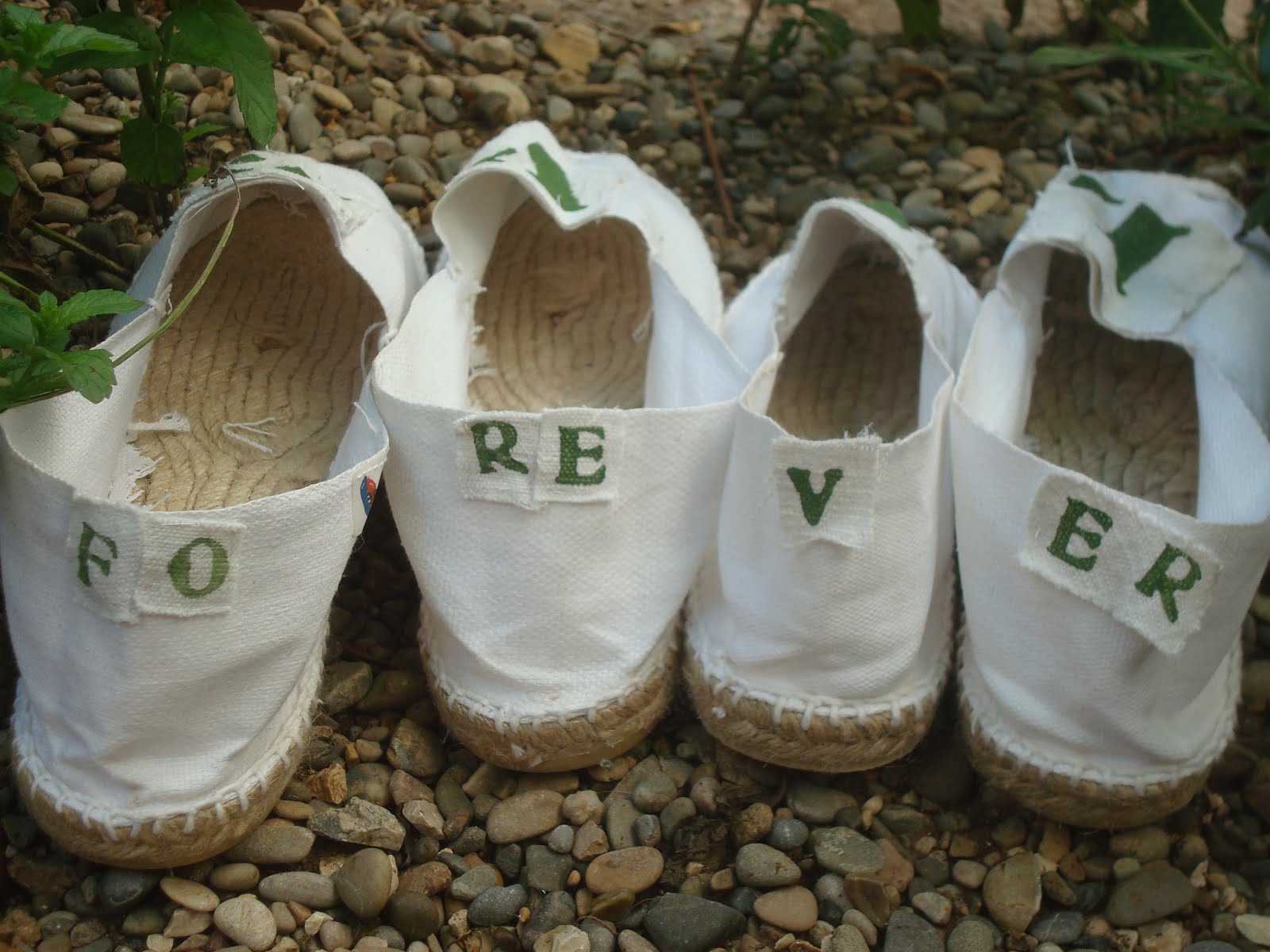 Espadrilles pour jeunes mariés
