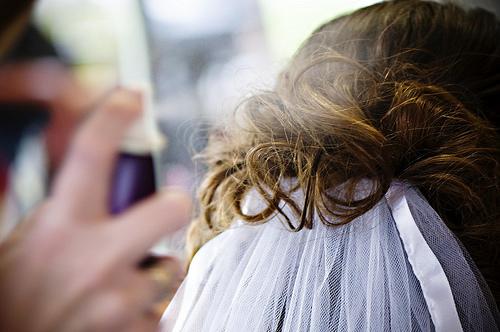 Mariage, kit de secours, pour les cheveux
