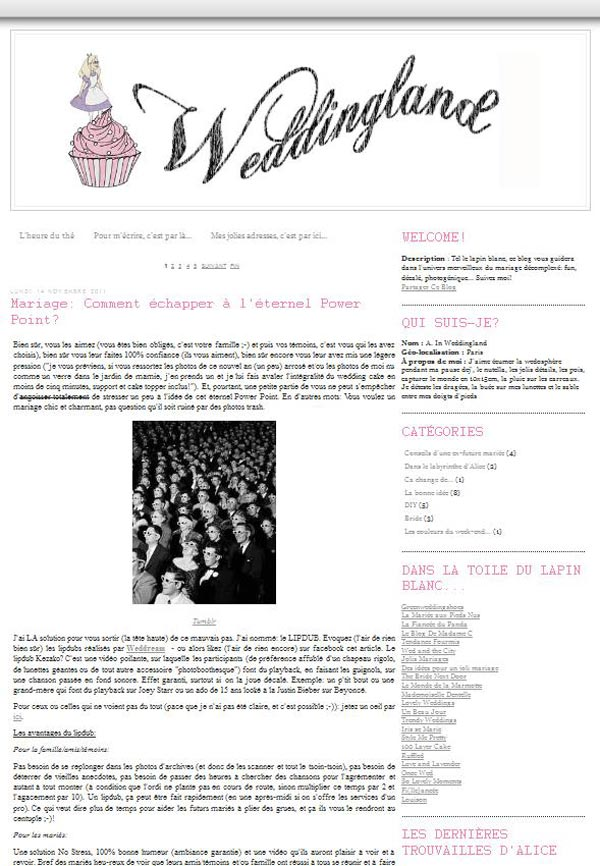 Blog weddingland.fr