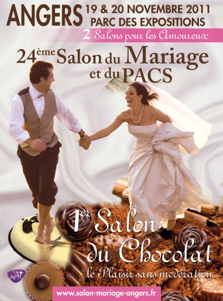 Salon du Mariage et du PACS d'Angers, les 19 et 20 novembre au Parc des Expositions d'Angers, stand G05