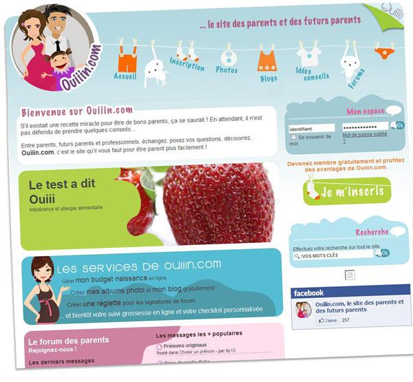 Ouiiin.com, site dédié aux enfants et aux parents
