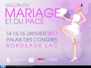 13, 14 et 15 janvier : Salon du mariage et du PACS de Bordeaux