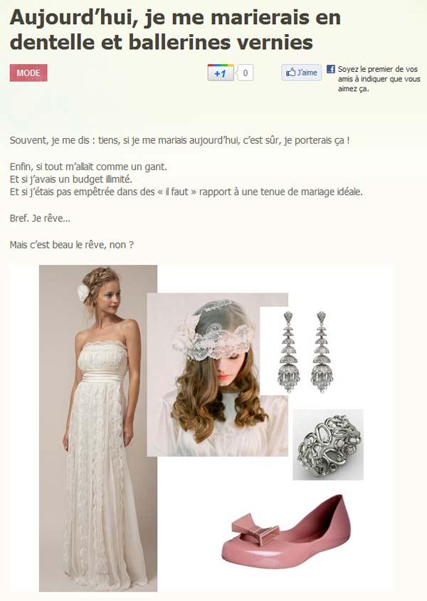 Blog de Mademoiselle Dentelle - Idées look pour futures mariées
