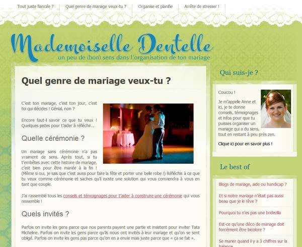 Blog de Mademoiselle Dentelle