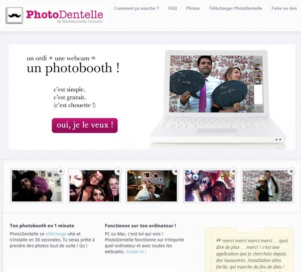 Blog de Mademoiselle Dentelle - Application PhotoDentelle