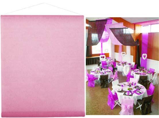 tenture décorative de salle, rose