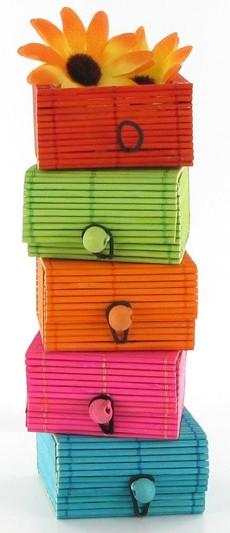 Boîtes à secrets en bambou