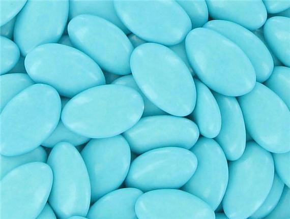 Dragées bleu turquoise
