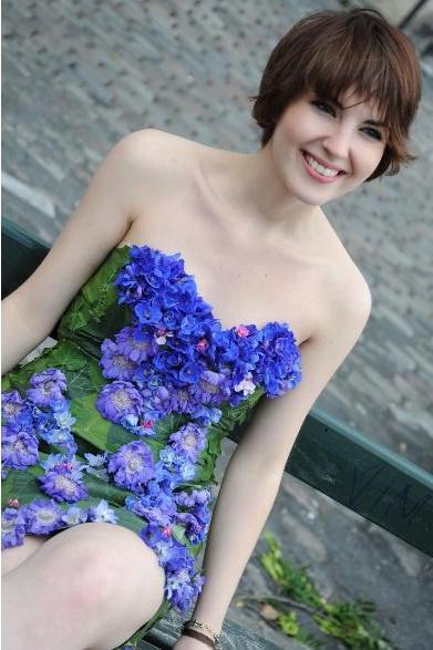 Robes de mariée végétales et éphémères