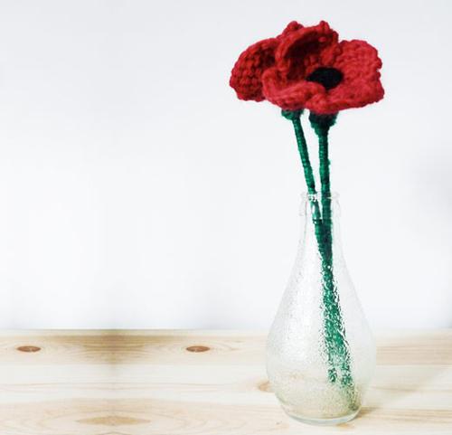L'idée du jour : des fleurs... tricotées !