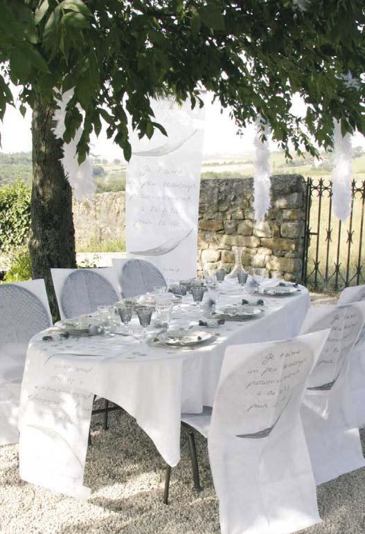 Décoration de mariage estivale