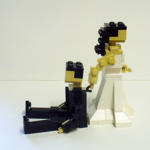 Des figurines lego pour le gâteau de votre mariage