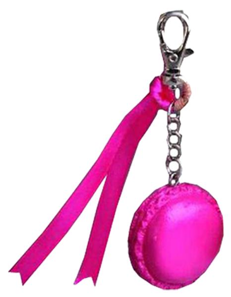 Nos macarons porte-clés avec ruban