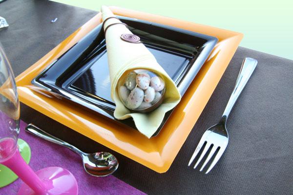 Décoration de table : mariage gourmand (dragées)