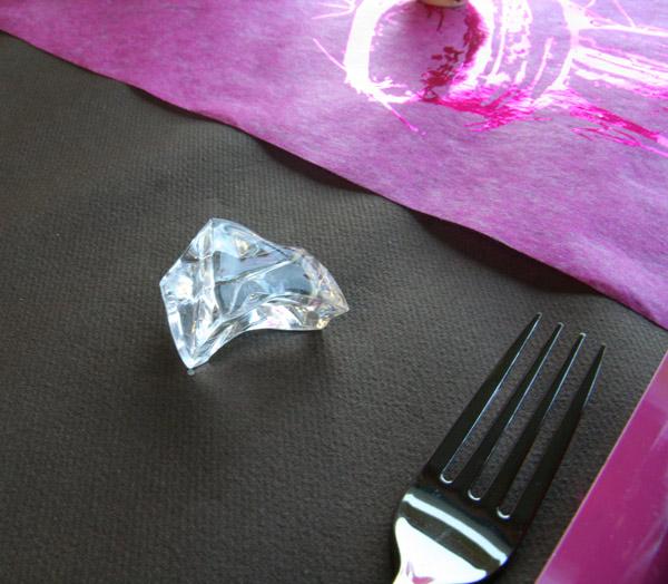 Décoration de table : mariage gourmand (glaçon)