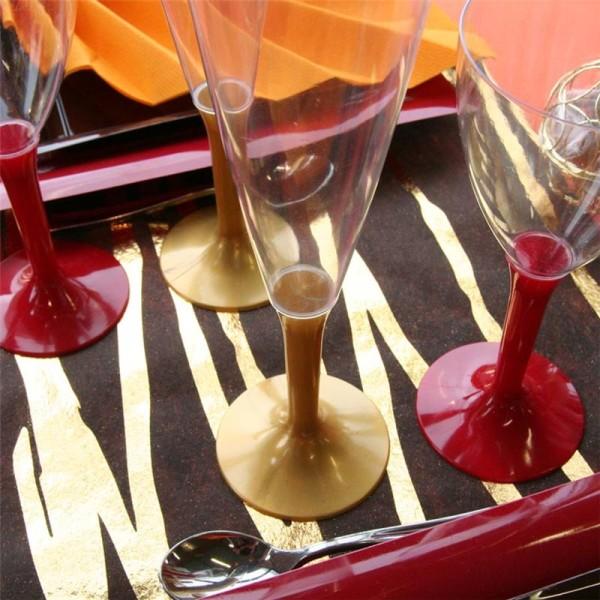Flûtes à champagne jetables