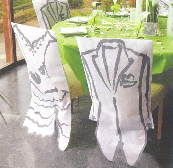 Housses de chaise de mariage