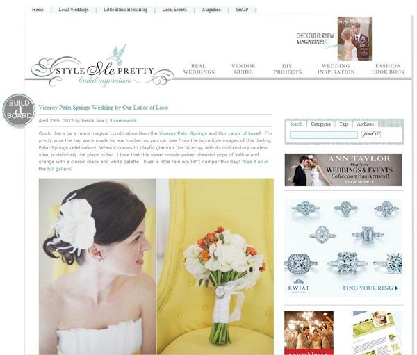 Style me pretty, blog de décoration et idées pour les mariages