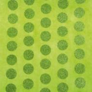 Chemin de table pois pailletés vert anis