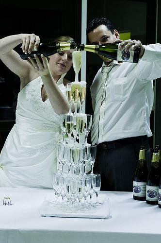 Une fontaine à champagne pour votre mariage