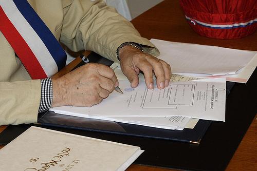 Signature d'un mariage