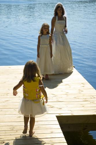 Organisez un trash the dress avec vos enfants !