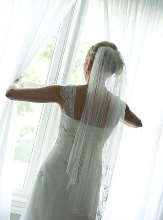 Pas de miroir, même le jour de son mariage !