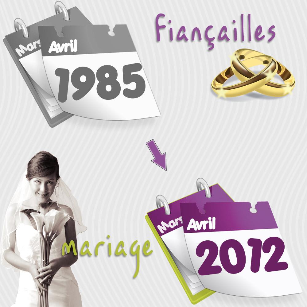 Mariage après 27 ans de fiançailles