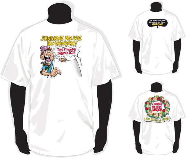 Tee-shirts Enterrement de vie de garçon