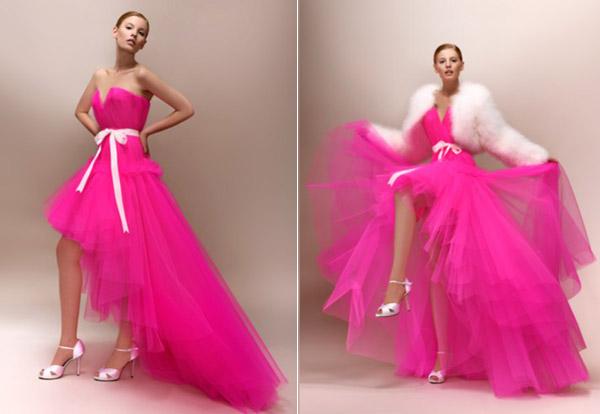 Robes de mariée rose fluo