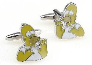 Boutons de manchette Homer Simpson