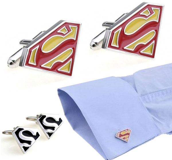 Boutons de manchettes Superman