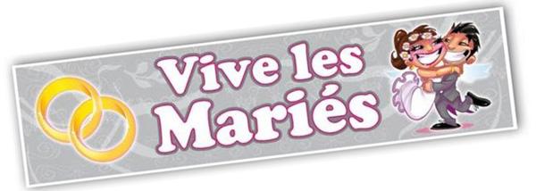 Plaque magnétique Vive les mariés