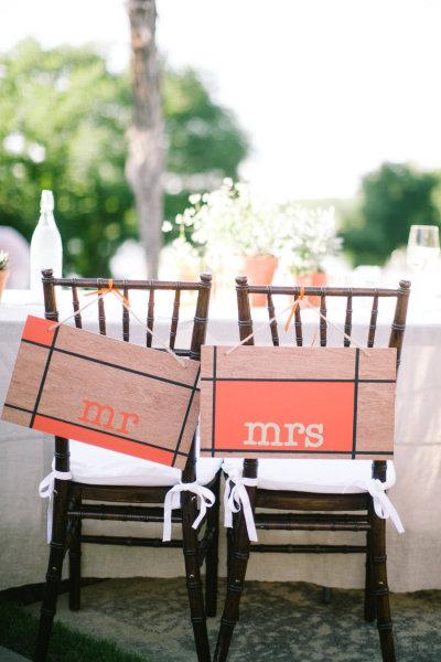 Chaises de mariés