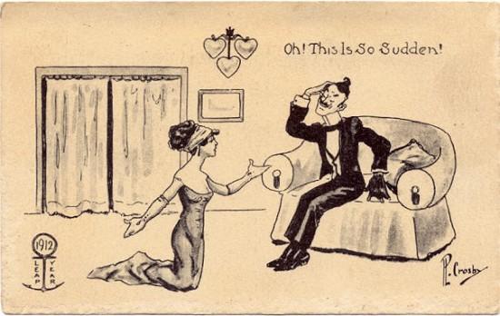 Demande en mariage femme