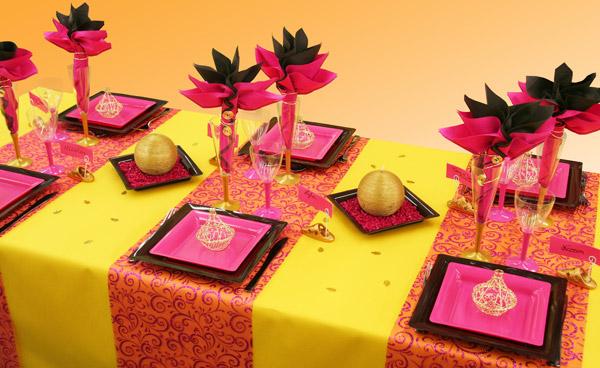 D coration de table de mariage th me oriental for Accessoire deco jaune
