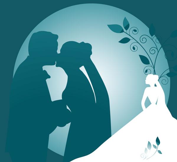 Eléments graphiques pour loisirs créatifs mariage