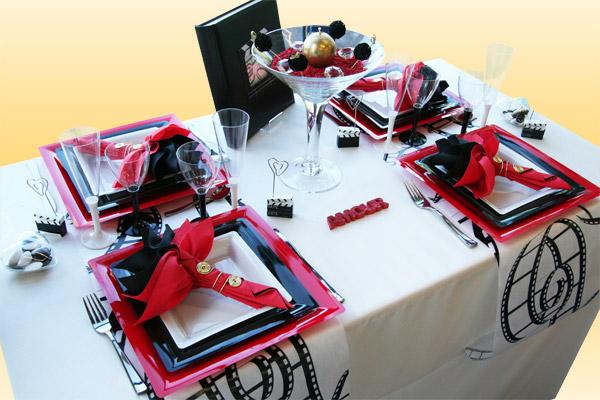 Décoration de table mariage cinéma